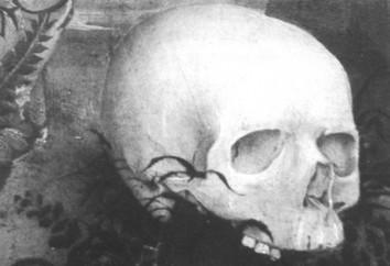 Рисунок 1. Череп, деталь «Распятия», 1450/60 (фото автора)