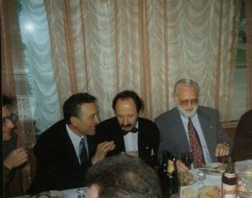 На банкете (слева направо): Г.Пискунов, Ю.Керн, Ф.Стакер