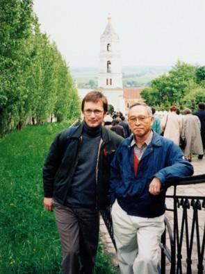 Знаменитый японский профессор Горо Моги и А.Лопатин