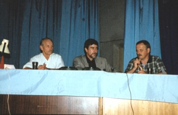 Заключительная дискуссия во время первого курса. Слева направо: С.Лиманский, С.Юго, В.Козлов