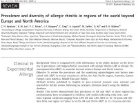 Prevalence and diversity of allergic rhinitis in regions of the world beyond Europe and North America
