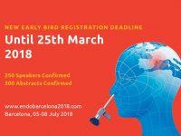 Ранняя регистрация на Конгресс Эндобарселона возможна до 25 марта 2018