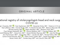 Международный регистр оториноларингологов, специалистов в хирургии головы и шеи, перенесших COVID-19