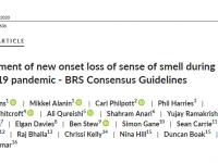 Британские рекомендации по лечению внезапной аносмии во время пандемии COVID-19